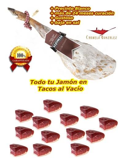 JAMÓN DE CEBO IBÉRICO EN TACOS AL VACIO aljomar