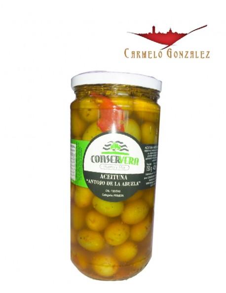 Aceitunas Manzanilla sabor anchoa