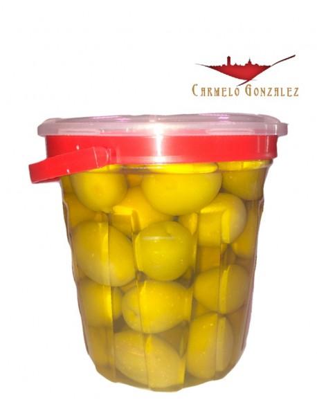 Aceitunas aliñadas gordal con hueso