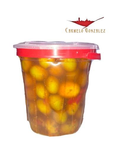 olivas aliñadas con hueso