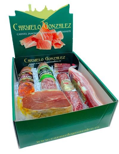 comprar lote de Pueblo. chorizo, salchichon, lomo, torrezno, fuet y jamon
