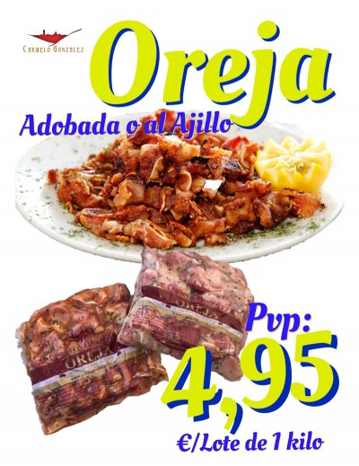 Pack oreja adobada o al ajillo