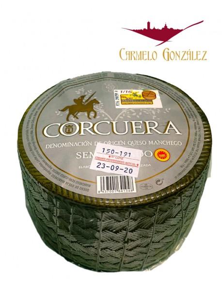 Queso 1 kilo Manchego con Denominacion de Origen Semicurado Corcuera