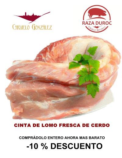 cinta lomo fresca de cerdo duroc EN OFERTA COMPRAR ENTERO DESCUENTO PARA QUE LO COCINES CON TU MEJOR RECETA de carmelo gonzalez.