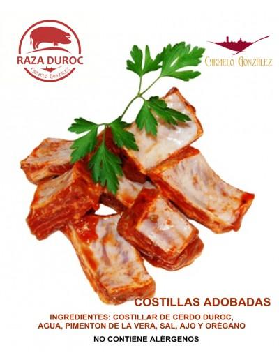COSTILLAS DE CERDO BBQ ADOBADAS ENTERO O EN TROZOS PARA QUE LO COCINES CON TU MEJOR SERVICIO A DOMICILIO