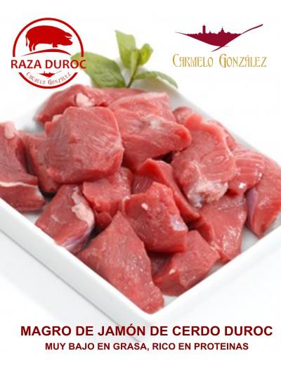 Trozos de magro de Carne de Jamón de Cerdo Duroc