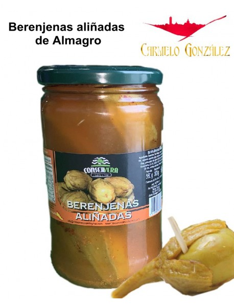 Berenjenas aliñadas de Almagro