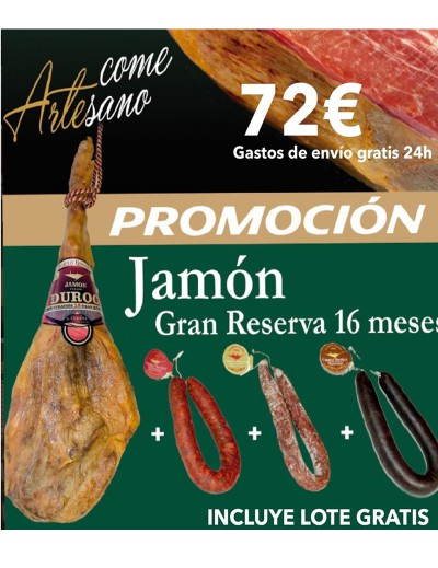 COMPRAR Jamón GRAN Reserva RAZA DUROC+ Lote de Embutidos Gratis¡¡¡