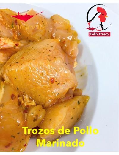Trocitos de pollo Marinado Andaluz en Pinchos Morunos
