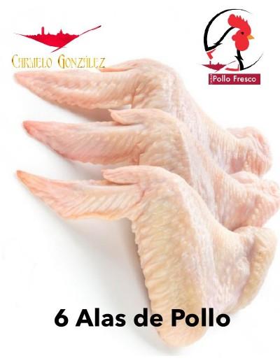 6 Alas de Pollo Frescas