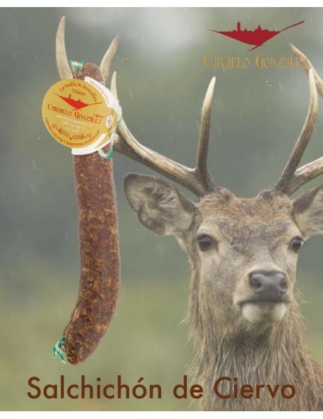 comprar online nuestro salchichon de ciervo o venado de caza mayor montes de toledo