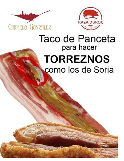 Panceta Curada en Tacos Cómo hacer torreznos al más puro estilo de Soria con panceta curada y salada elaborada por Carmelo Gonza