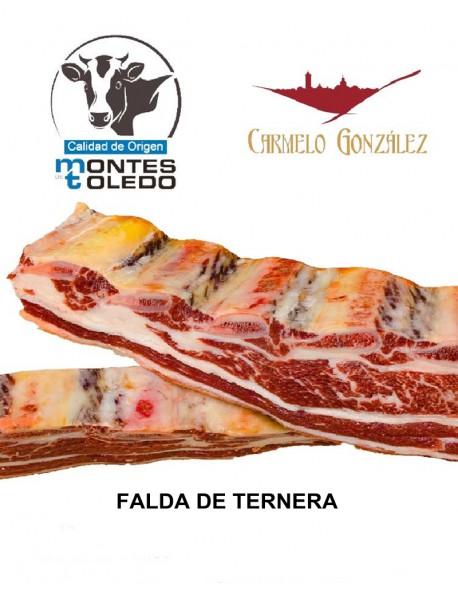 comprar FALDA de ternera origen montes de toledo la carne muy tierna servicio a domicilio on line al mejor precio