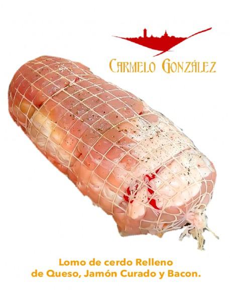 CINTA DE LOMO DE RAZA DUROC Relleno de Queso, Jamón Curado y Bacon FÁCIL COCINADO