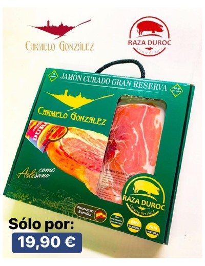 COMPRAR ESTUCHE CAJA REGALO PACK LONCHeado JAMON CURADO SERRANO duroc iberico carniceria online CON SERVICIO A DOMICILIO AMAZON