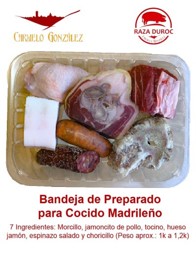 bandeja preparado cocido 7 ingredientes