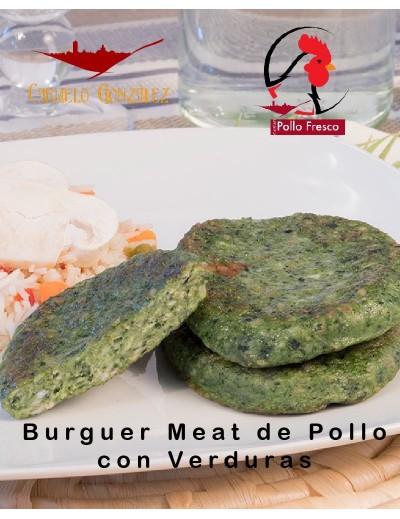 BURGER MEAT DE POLLO Y PAVO con verduras 2 unid