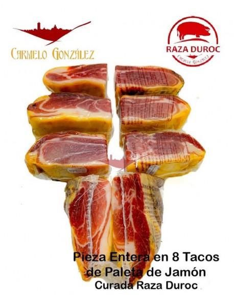 Tacos Pequeños de Paleta Curada de Raza Duroc de mas de 9 meses de curación