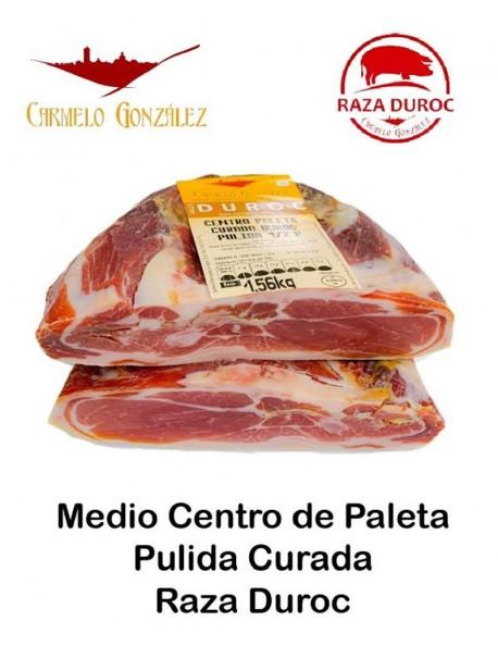 Centro Paleta Curada Pulida sin hueso y sin grasa amarillade Raza de cerdo Duroc