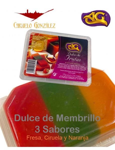 COMPRAR membrillo natural dulce de frutas 3 sabores en tarrina
