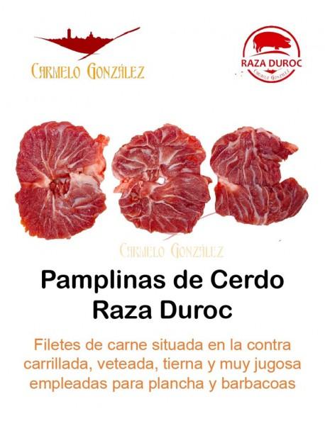 comprar pamplinas de cerdo duroc o carrilladas en filetes a la plancha o en barbacoa PRECIO carniceria online PARA ELABORar RECE