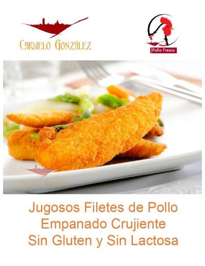 filetes de solomillo de pollo empanados sin gluten