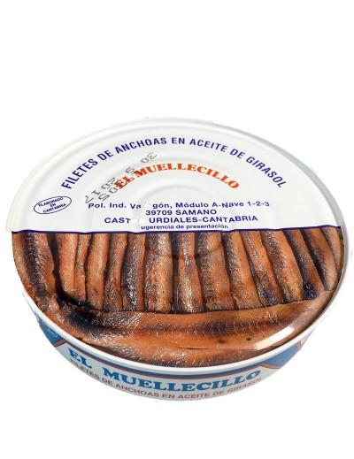 Filete de Anchoas en Aceite de Girasol El Muellecillo
