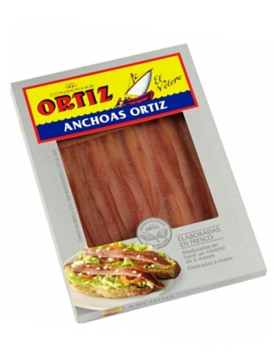 Filete de Anchoas en Aceite de Oliva de Ortiz