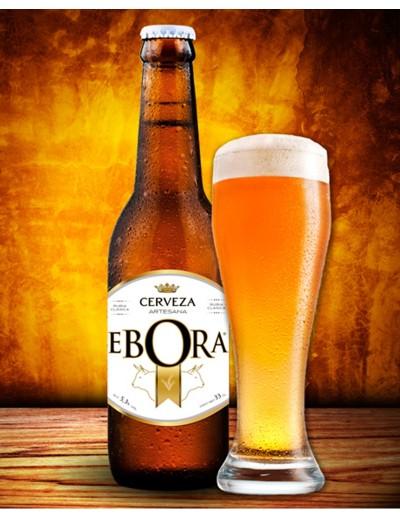 Cerveza Ebora Rubia Clásica