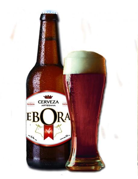 Cerveza Ebora Rubia del Mediterráneo